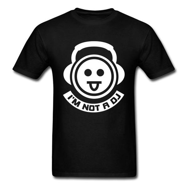 Hip Hop Crazy Music T Shirts 3D Printed Tops T Shirt Round Neck Summer 100% Cotton Short Sleeve T Shirt For Men Im Not A DJ