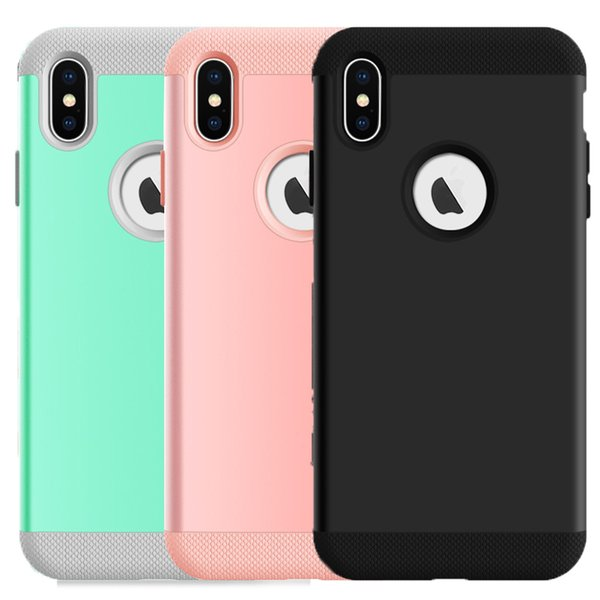 For Iphone XS XR XS MAX Case 3in1 Soft Silicone TPU material and Hard Poly Carbonate Shock Absorbent H Series