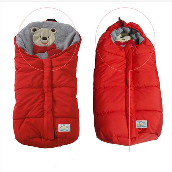 Çocuklar Sıcak Bebek uyku tulumu yenidoğan için bebek battaniyeler stil su geçirmez gezginci uyku tulumu tutar