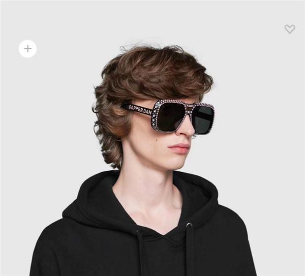 Top Quality 0247 Womens sunglasses men sunglasses women big Square Frame with stone sunglasses UV Protection with original box 0247S