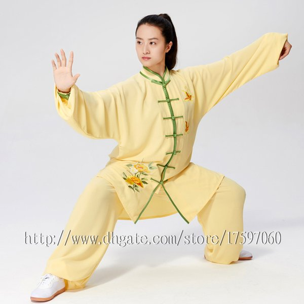 best selling Chinese Tai chi clothes taiji boxing suit kungfu uniform performance garment wushu outfit for men women children boy girl kids adults