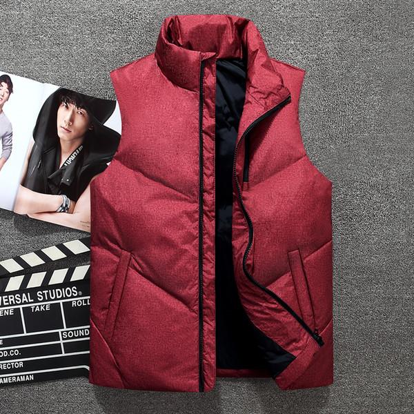 New mens winter sleeveless down vest men's sleeveless Warm hooded down vest homme winter casual coats 1801L