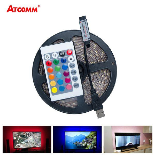 5V USB RGB LED Strip Light 60 LEDs/m SMD 2835 3528 LED Diode Tape Light HDTV TV Desktop PC Screen Backlight 0.5m 1m 2m 3m 4m 5m