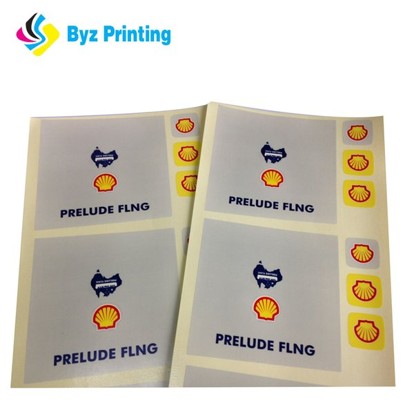 High Quality Custom Die Cut Round Adhesive Logo Vinyl Sticker Glossy Lamination Single Sheets Label Printing