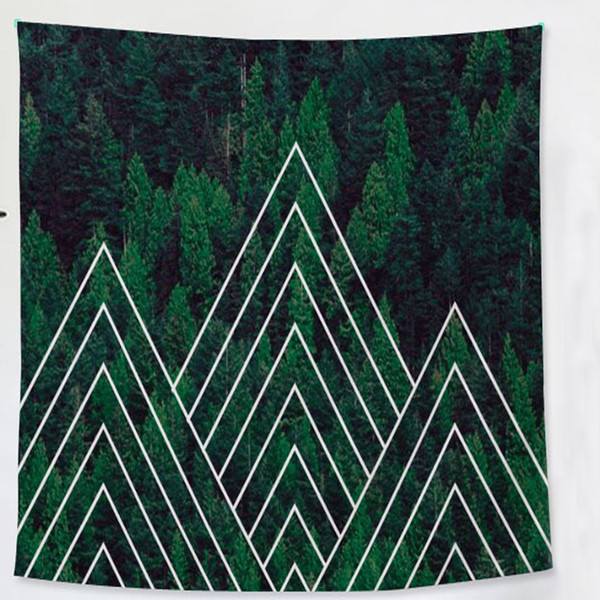 wholesale tapestry Tropical plants Canna Musa fern leaves Wall hanging Mural Beach towel decoration polyester Beach blanket