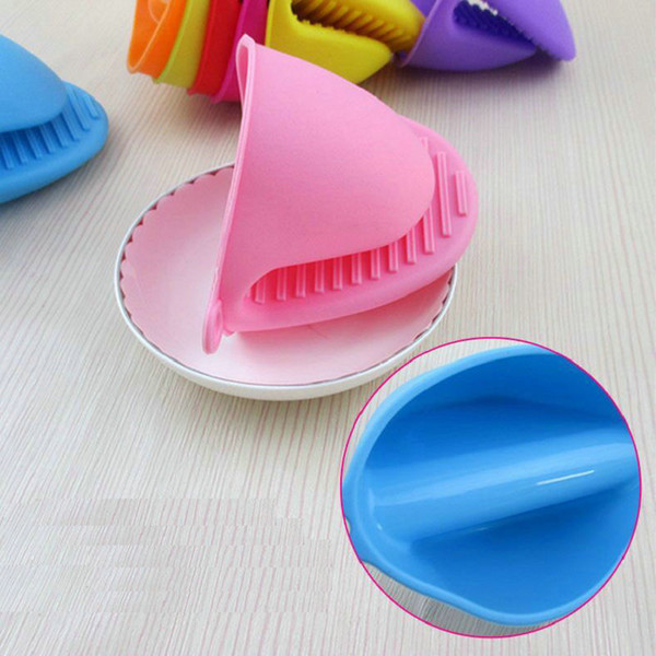 2018 Newest 9 Colors Silicone Heat Proof Insulation Microwave Oven Plate Dish Tray Clip Clamp Holder Kitchen Cooking Mitt Non-slip Gloves