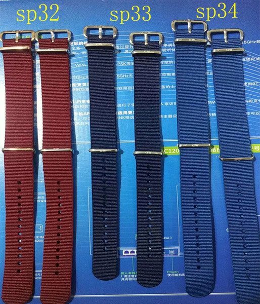 Daniel watch strap 18MM 20MM red blue nylon black silver rose gold Milan net stainless steel watch strap accessories