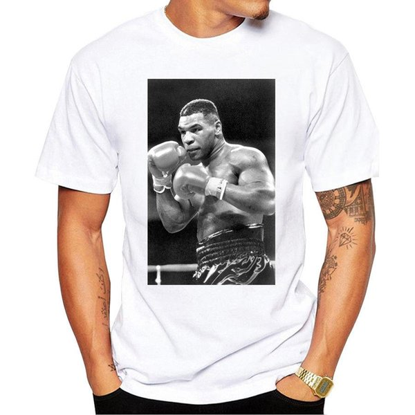 Fashion Mike Tyson Poster Printed T Shirt Custom Hipster Tees Casual T-shirt