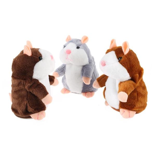 Electric Talking Plüsch Cartoon Hamster Interessante Kinder Spielzeug Gefüllte Hamster Plüsch Spielzeug Elektronische Pet Cartoon Niedlich Sprechen Schallplatte Hamst