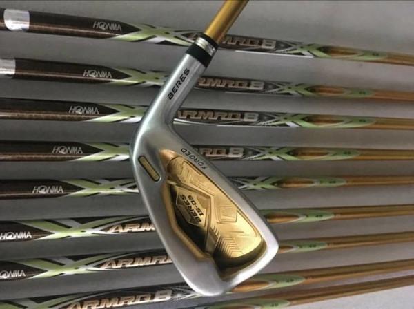 4-звездочный Honma IS-03 Iron Set Honma IS-03 Golf Irons Гольф-клубы 4-11AwSw R / S Графитовый вал с крышкой головки