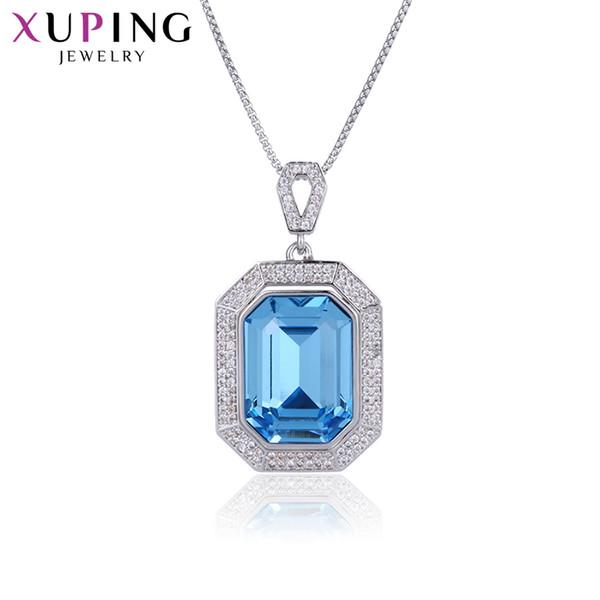 11.11 Xuping colar de luxo na moda cristais da melhor joia para namorada / esposa presentes de véspera de Natal S140.4-44350