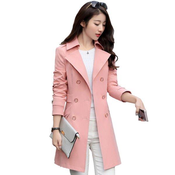 2018 весна и осень женская двойной Оснастки женщины тонкий тонкий большой двор длинные классические ветровка пальто куртка женская мода пальто S18101302
