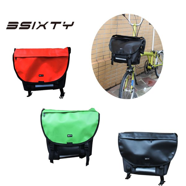 3SIXTY Nylon Bicycle Front Carrier Block Bags Bascket for Brompton Bike Accessories Waterproof Bag with Bracket & Block