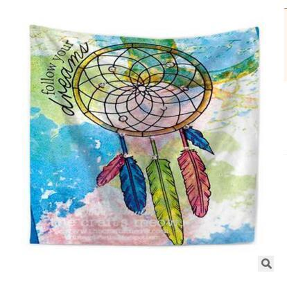 Dreamcatcher Tapestry Polyester Wall Hanging Throw Bohemian Door Curtain Bedspread Home Decor Table Cloth Yoga Mat DHL Free Shipping
