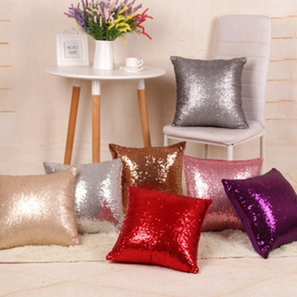 Pillow Covers 18 Style Personalized Pillow Cases Sequin Decorative Throw Pillows Cushion Covers Reversible Pillow Case Home Decor