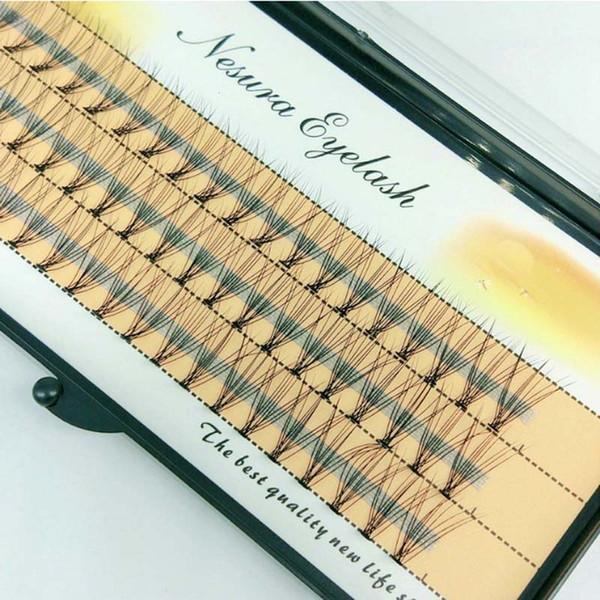 10 Cheveux / Grappes C Fouets Sans Nœuds Fusées Naturelles Individuelles Faux Cils Faux Cils Extension Outils 8 10 12mm Livraison Gratuite