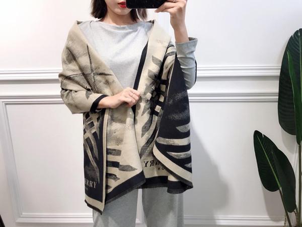 Luxus Winter Gestreifte Wolle Stola für Frauen Marke Druckdecke Schal Kaschmir Pashmina 180 * 70 cm