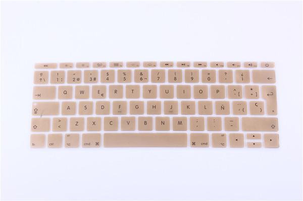 12 polegada de silicone espanhol tampa do teclado à prova d 'água para o novo macbook 12 retina / new pro 13 com retina a1708 teclado etiqueta do filme