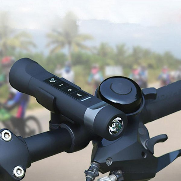 4 in 1 Mini Wireless Bluetooth Speaker 2200mAh Power bank Outdoor Sport Bicycle FM Radio LED Bike Light Lamp For Mounting