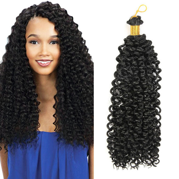 Hot Sale Freetress Crochet Braiding Crochet Hair Extension 14 inch 30 roots/pack Freetress Deep Twist Water Wave Crochet Braids Hair