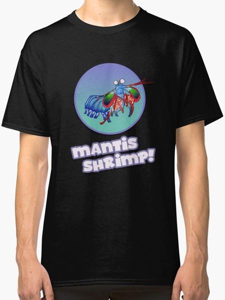 Crevettes Mantis! Tee shirt Homme Noir Imprimé Style Été Tees Homme Harajuku Top Fitness Marque Vêtements Style Simple