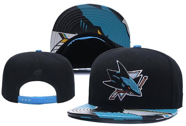 top popular New Caps San Jose Sharks Hockey Snapback Hats Black Color Cap Team Hats Mix Match Order All Caps Top Quality Hat 2021