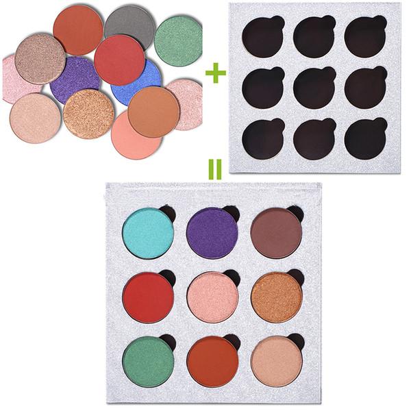 9 Farben magnetische Augenschminke-Paletten-Nachfüllung Augenschatten erröten DIY Schönheits-hohe Pigment-Verfassungs-Kosmetik-Augenschatten Funkelnaugenschminke-Paletten