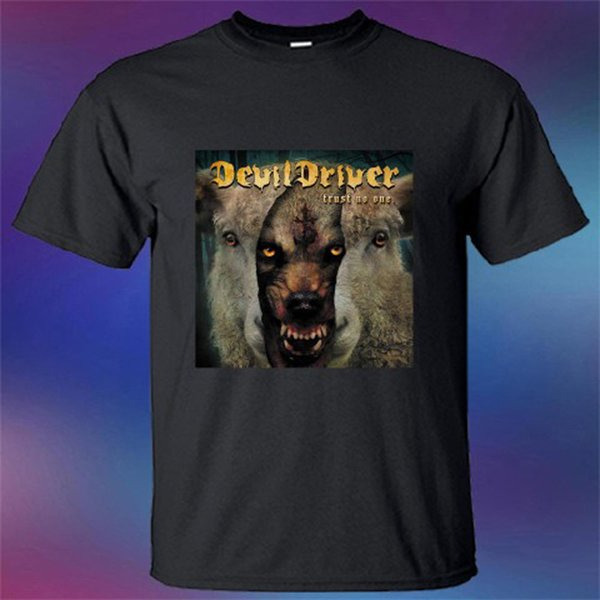 Yeni Şeytan Sürücü Güven Hiçbir Albüm Kapağı erkek Siyah T-Shirt Boyutu S-3XL