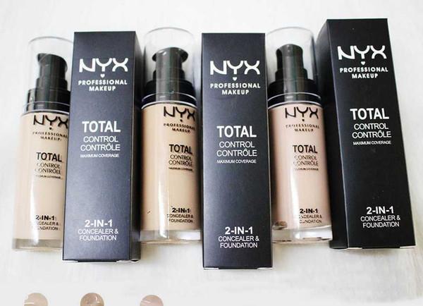 Venta al por mayor del maquillaje corrector NYX PROFESIONAL 2 en 1 Instant suave Fundación retoque Primer Mate Longwear cosméticos de color 3