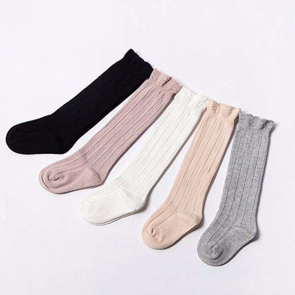 2018 0-4Y Baby Socks Toddler Knee High Lace long Girls Cute Leg Warmers Cotton Mesh Breathable Infantile sock calcetines