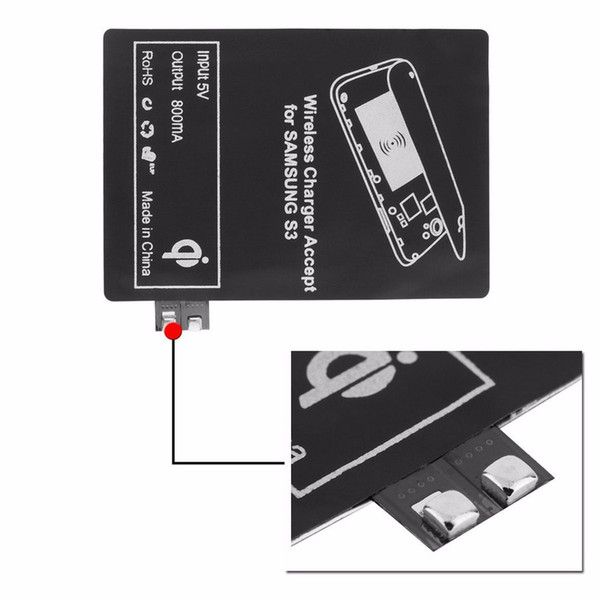 Standard Qi Wireless Charger Charging Receiver Module Adapter for Samsung Galaxy S3 i9300 S4 S5 NOTE 2 3 4 S NOTE3 NOTE4 NOTE2 40