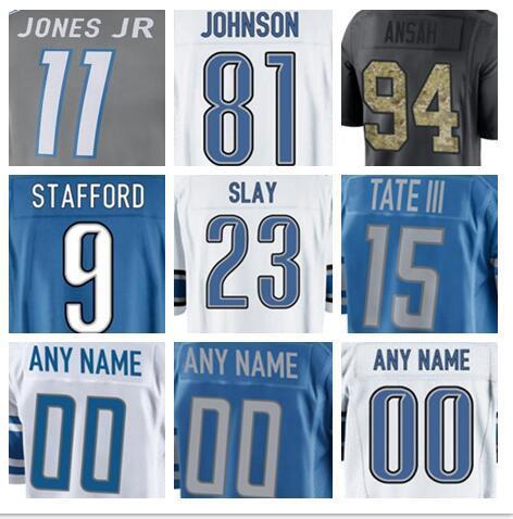 best service 86724 f794a 2018 Detroit Darius Slay Lion Jersey Golden Tate Iii Ezekiel Ansah Jarrad  Davis Marvin Jones Jr Matt Prater American Football Jerseys Cheap Wome From  ...