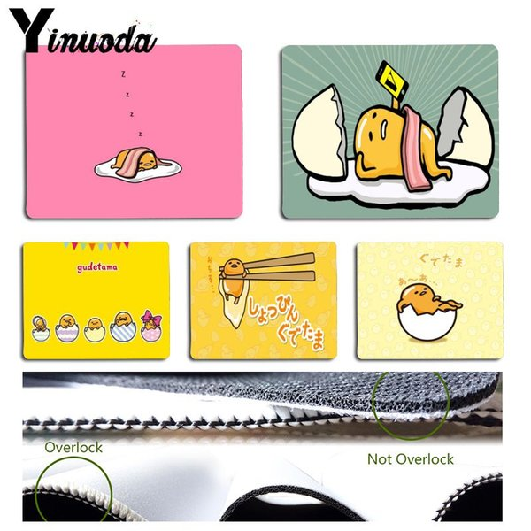 Yinuoda Non Slip PC cute lovely gudetama lazy egg Keyboard Gaming MousePads Size for 18x22cm 25x29cm Rubber Mousemats