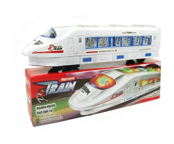 4 UNIDS Tren eléctrico de alta velocidad Tren de juguete Tren de alta velocidad Batería de juguetes Trenes Modelo Grandes Niños Juguetes de Navidad Regalos para Niños Amigos