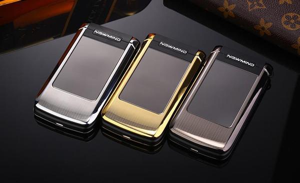 Zhixin V518 2.4-inch ultra-thin dual-screen dual card, old man mobile phone, QQ WeChat shock metal flip phone