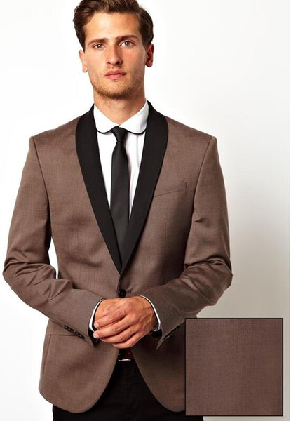 Custom brown men's business formal suit men's fashion slim suit two-piece suit (coat + pants) wedding groom dress