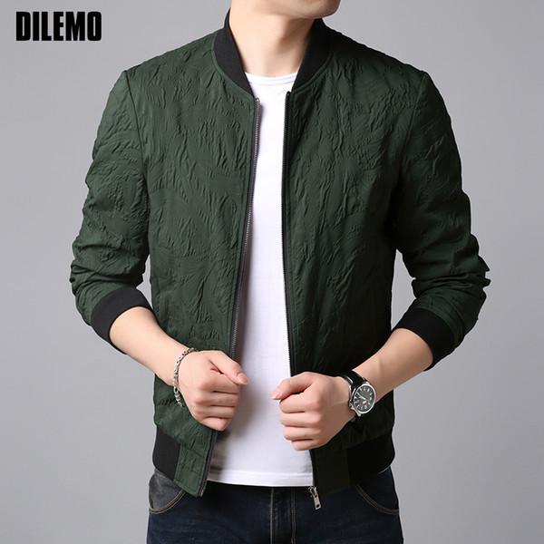 2018 Autumn Top Grade New Fashion Wind Breaker Jackets Men Slim Fit High Street Trend Overcoat Pattern Casual Coat Mens Clothes