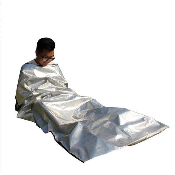Saco de dormir de emergência médica de 4 camadas ao ar livre, isolamento de radiação e sono de septo salva-vidas