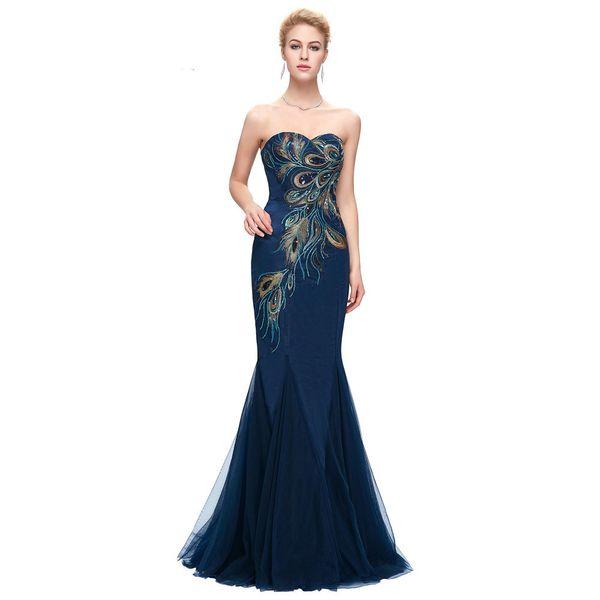 310555b34cf4d AL920 Peacock Dress Grace Karin Purple Evening Dresses 2018 New Arrival  Long Party Dress Plus Size Formal Evening Gowns Long Party Dresses Long  Prom ...