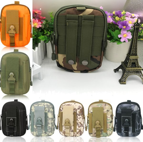 Universal Sporty outdoor sports molle waist pack fanny Camo Bag belt bags EDC Camping hiking running pouch wallet toys new arrival 18 colors