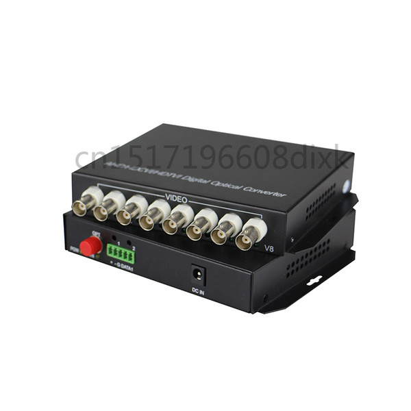 HD video AHD CVI TVI Fiber optical converter, 8-CH 720P 960P video fiber optic transmitter, single-mode single 20KM