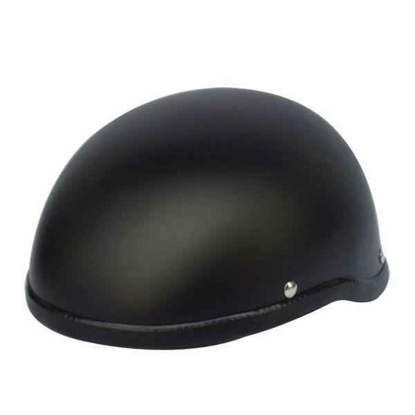 1Piece 57-62cm ABS Plastic Motorcycle Helm Motorcross e Half Helmet for Harley Retro Matte Bright Black
