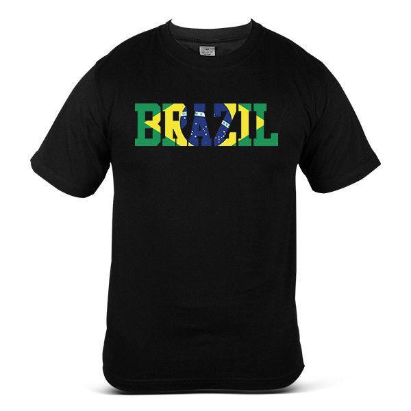 World cup 2018 Brazil Football Streetwear Soccer Top Jessy Mens Tee T-Shirt