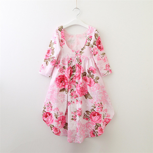 2019 summer new tide brand children's clothing flower girl dress baby lady skirt children chiffon skirt
