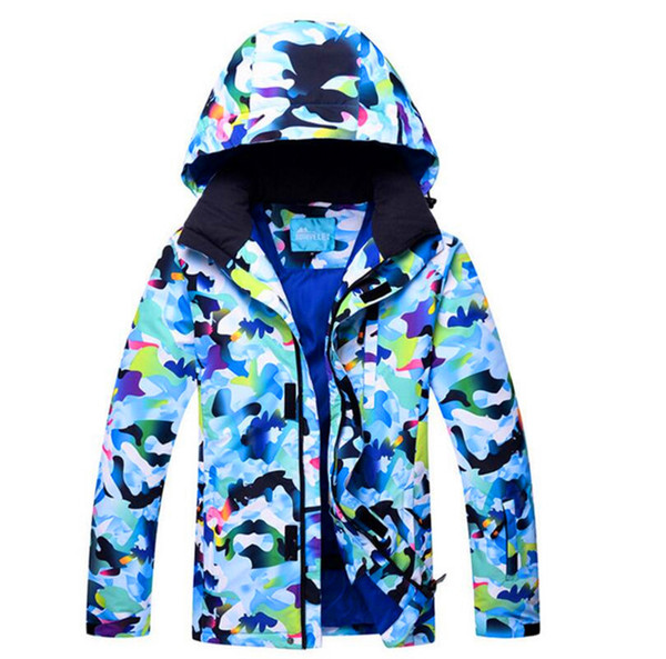 Winter Hooded Fleece Sport Wear Snowboard Jacket Men Full Sleeve Thickening Thermal Coat Waterproof Windproof Skiing Jackets