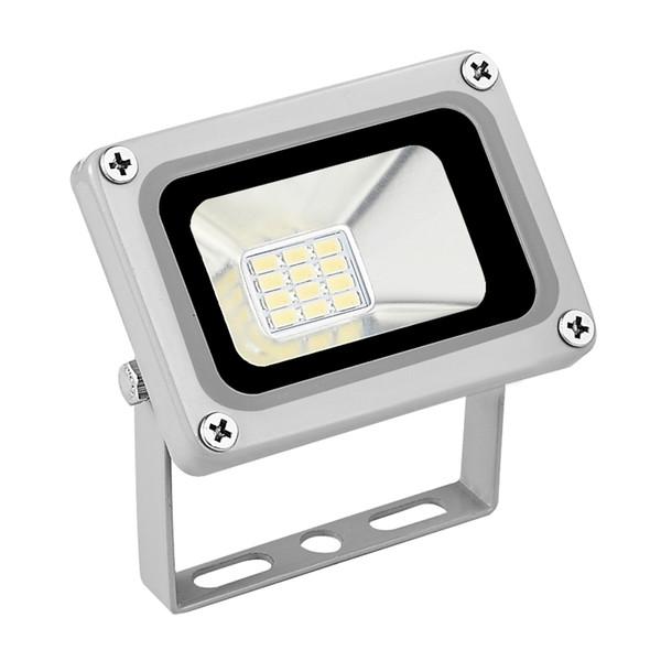 2 UNIDS NUEVO 10W 12V Focos reflectores LED Proyectores de luz de búsqueda para exteriores Lámpara de 12 voltios Coldwhite Reflector para Garden Street Square