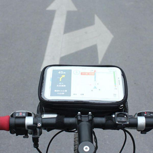 Pantalla de la tira reflectante de la bicicleta Pantalla táctil del bolso de los teléfonos móviles Bolsa de seguridad impermeable del teléfono móvil a prueba de agua