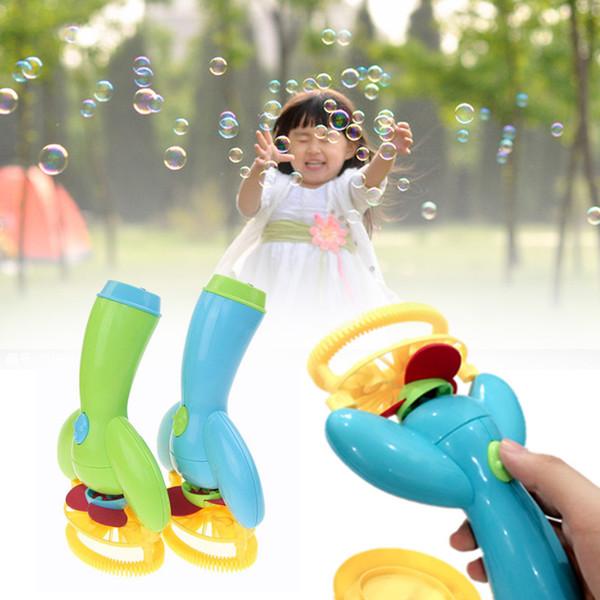 2017 Electric Bubble Gun Toys Bubble Machine Automatic Water Gun Essentia Blowing Toys For Children Kids Outdoor
