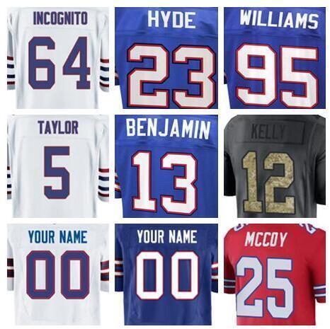 662515987c1 2018 Buffalo Kyle Williams jersey Bills Richie Incognito Kelvin Benjamin  american football jerseys elite game mens