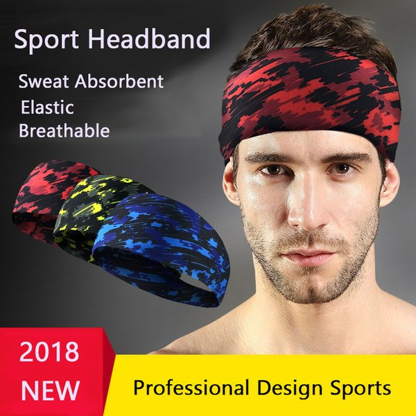 Professional Sweatband Sports Moisture-wicking Non slip Headband Unisex Breathable Head Band For Running Fitness Workout